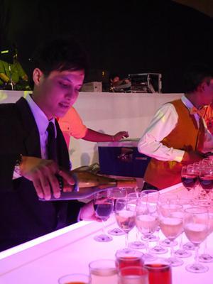 タイランドトラベルマートプラス 歓迎パーティーの様子 【ワインなど】
