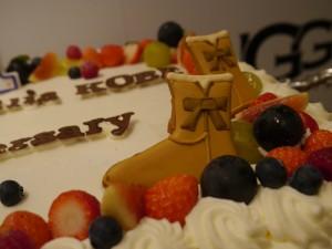 1周年ケーキ_ブーツ