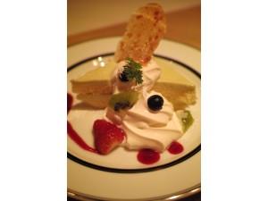 アボカドのレアチーズケーキ 550円