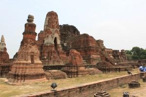 ワット・マハタート。ビルマ軍侵攻により破壊された姿を今に残す。